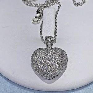Jewelry - 1.25 carat 14k white gold diamond heart necklace